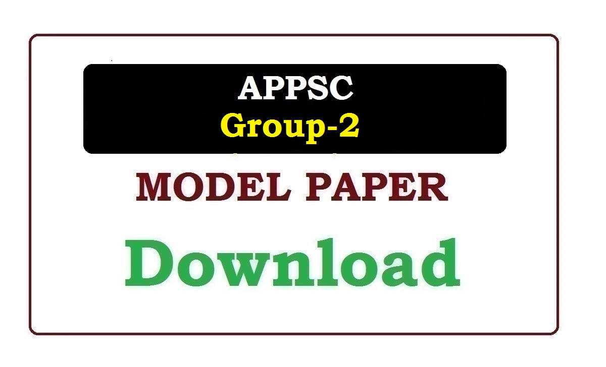 APPSC Group-2 Model Paper 2020