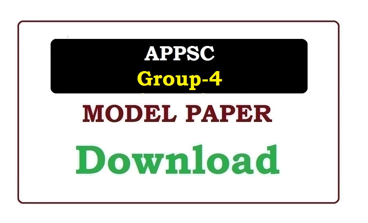 APPSC Group-4 Model Paper 2020
