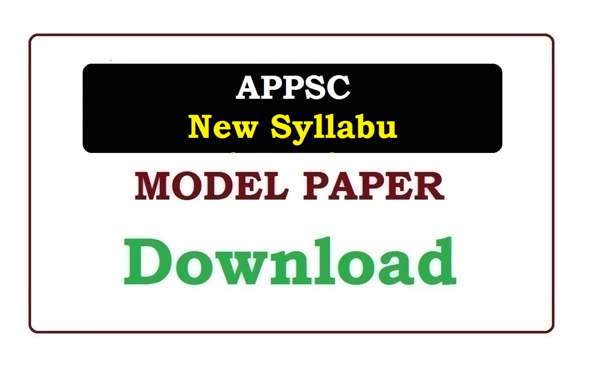 APPSC New Syllabus 2020
